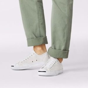 Converse Jack Purcell White Canvas Sneakers